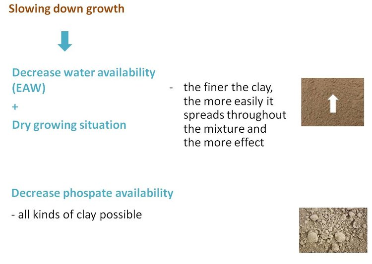 RHP slowing down growth with clay