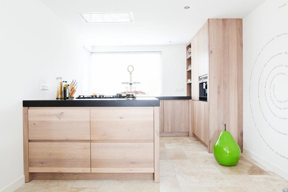 Modern Keuken Schiereiland : Keuken eiken modern met schiereiland wood creations
