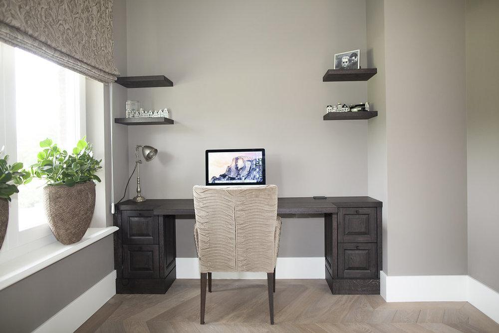 Kantoor Aan Huis : Kantoor aan huis klassiek in donker hout wood creations