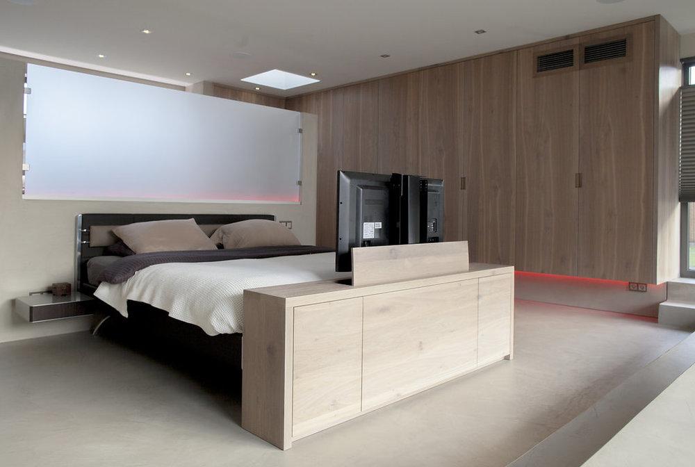 Badkamer Slaapkamer Ineen : Slaapkamer en badkamer in één ruimte wood creations